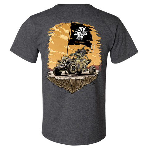 Baja Ride Co. Savages Ride T-Shirt - Gray