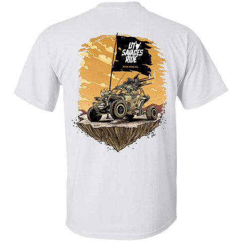Baja Ride Co. Savages Ride T-Shirt - White