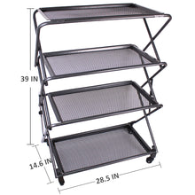 Zenree 4-Tier Folding Utility Storage Shelf , Work Station , BBQ Rack