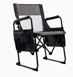 Zenree Folding Transformer Director's chair for Outdoor Camping , Glacia Grey
