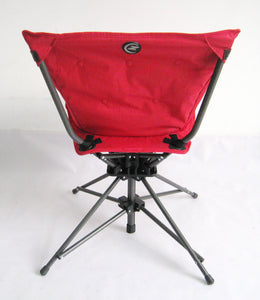 Zenree Collapsible Swivel chair with Padded Seat , Flame Red