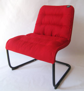 Zenree Comfortable Accent Chair Padded Lounge Dorm Chair, Flame Red