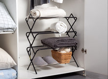 Zenree 4-Tier Folding Multi Function Storage Organizer ,  Shoe Rack Shelf , Matt Black