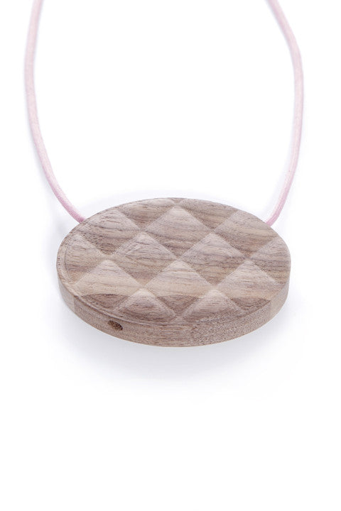 Quilt Walnut Wood Pendant
