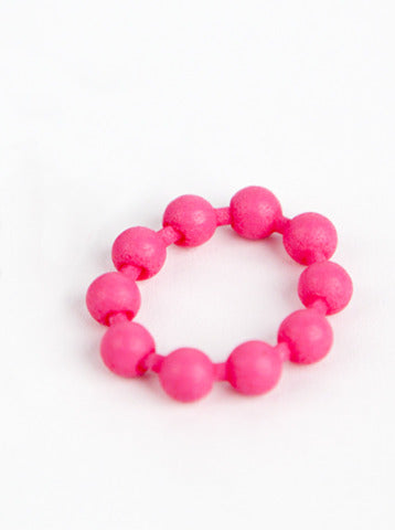Simple Pearl Jointed Ring - White, Pink & Black