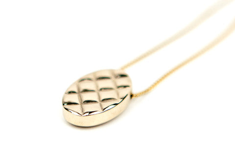 Quilt Pendant - Solid Brass