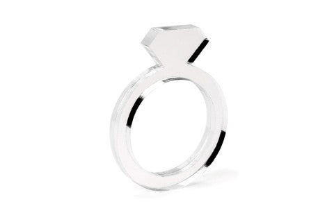 Diamond Acrylic Ring - Clear 1/8""
