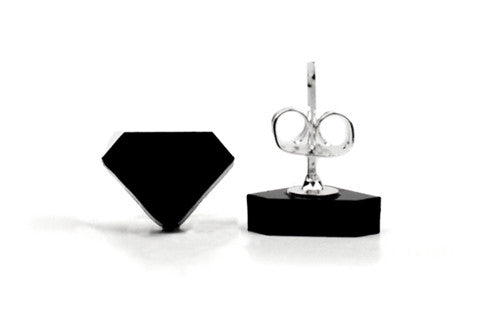 Diamond Acrylic Earrings - Black