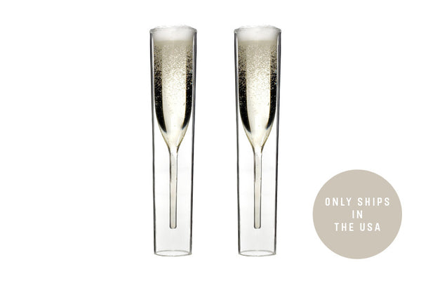 InsideOut Champagne Glasses - Set of 2