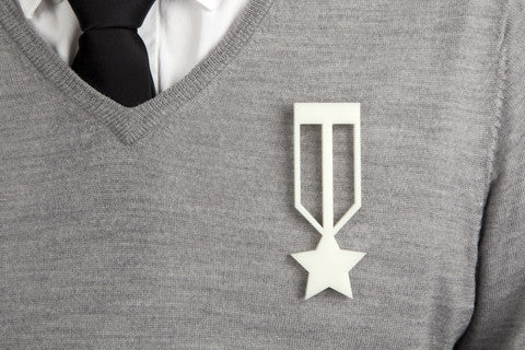 Medal of Honor Brooch - Ivory Acrylic