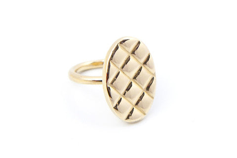 Quilt Top Ring - Solid Brass