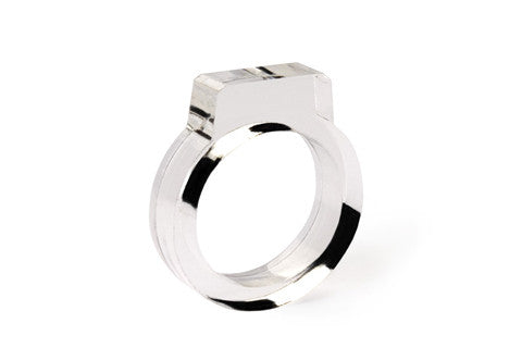 Signet Acrylic Ring - Clear