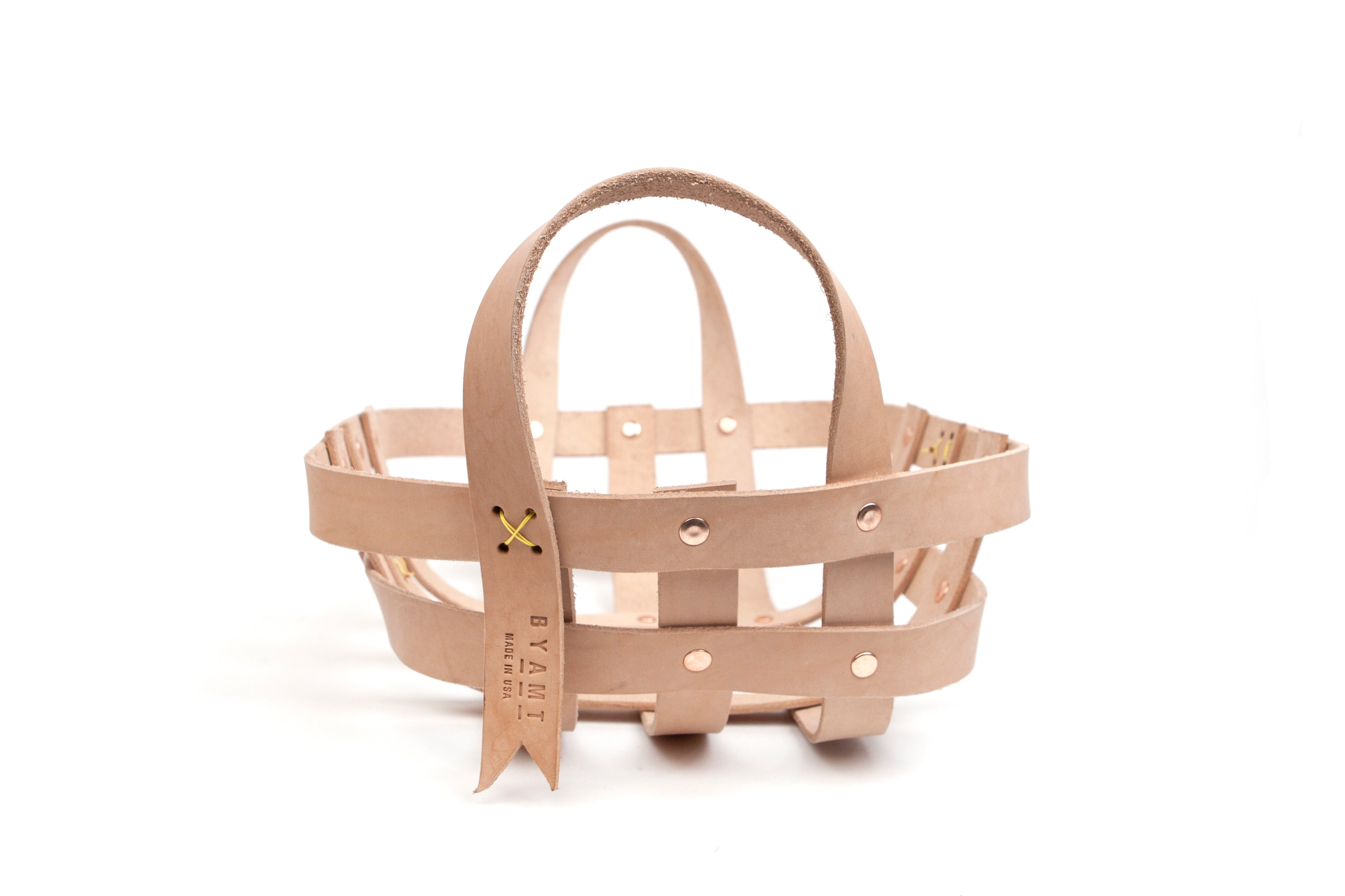 Leather Strap Small Basket - buyAMT Shop