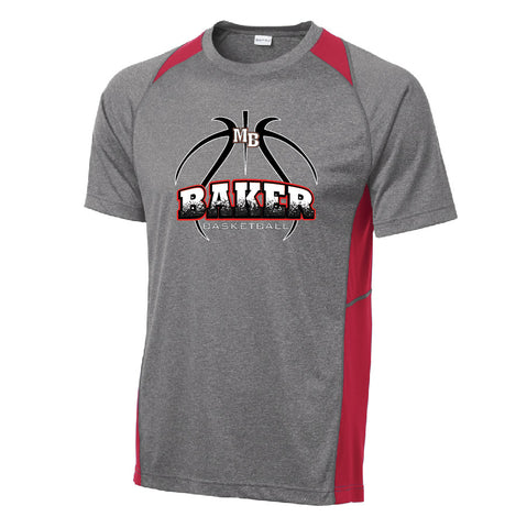Baker Basketball Colorblock Performance Tee