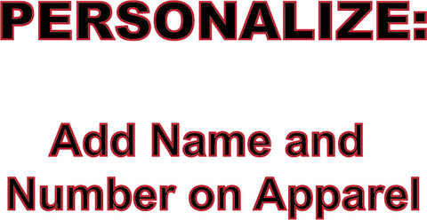 PERSONALIZE - Add Name OR Number