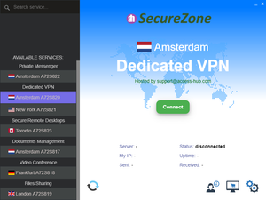 Protected Messenger Secure Kit:  Protected Virtual Server for 1 year + 10 SecureZone USB Agents