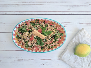 Summer is here! Spelt salad with tuna