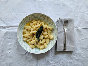 Xmas Gnocchi, butter and sage sauce