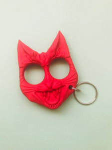Angry pussy protection keychain