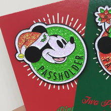 "Load image into Gallery viewer, ""Very Merry Mouse"" Passholder Pin"