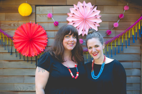 Lindsay and Jenna, Co-owners of Make Merry Party Shop