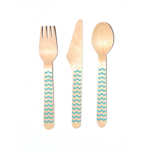 Chevron Wood Cutlery