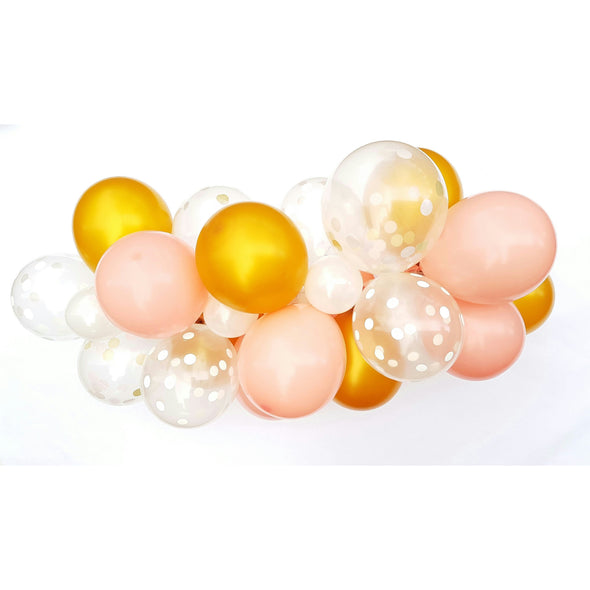 DIY Balloon Form Kit - Gold & Blush - 6ft