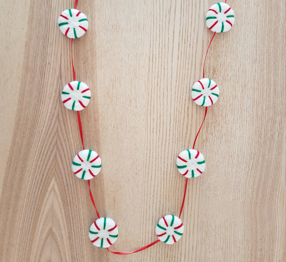 Peppermint Felt Garland
