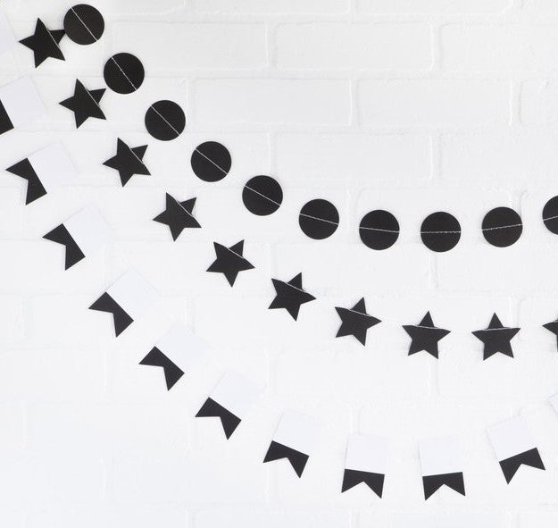 Mini Paper Garland Set - Black