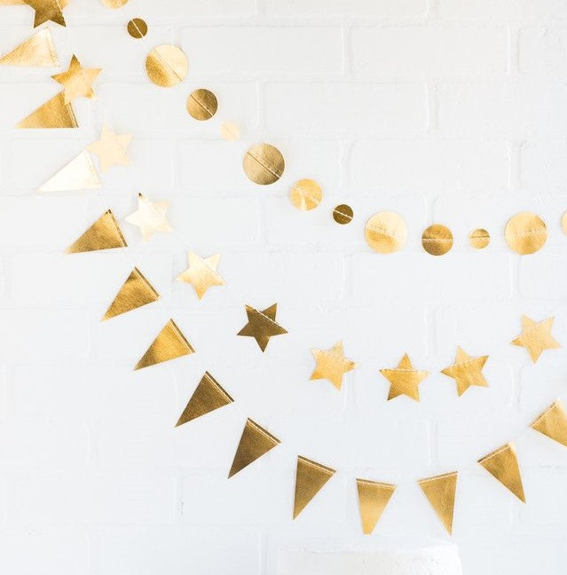 Mini Paper Garland Set - Gold