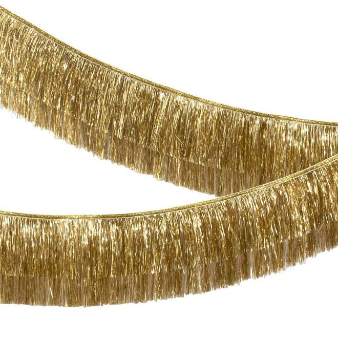 Gold Tinsel Fringe Garland