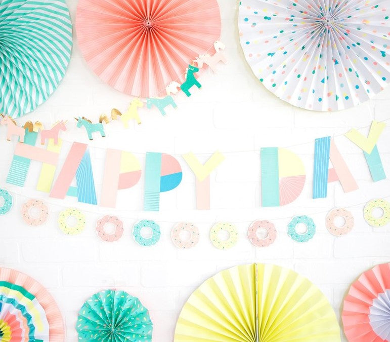 Neon Happy Day Banner