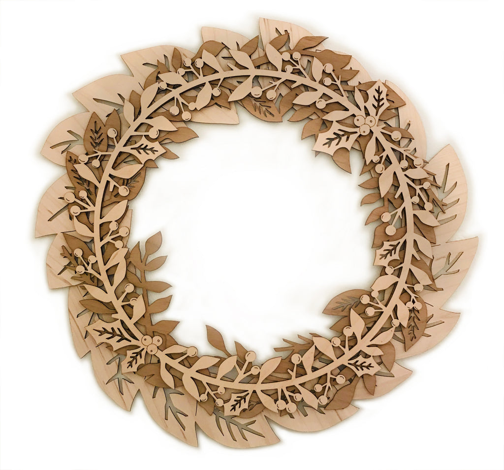 Three Layer Wooden Wreath