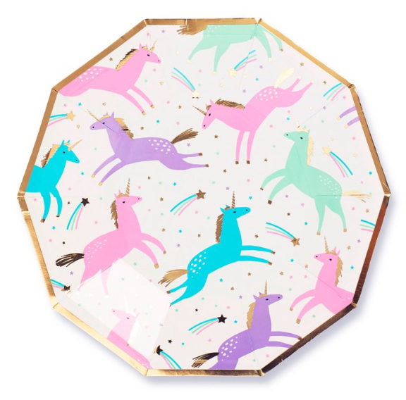 Magical Unicorn Plates - 7""