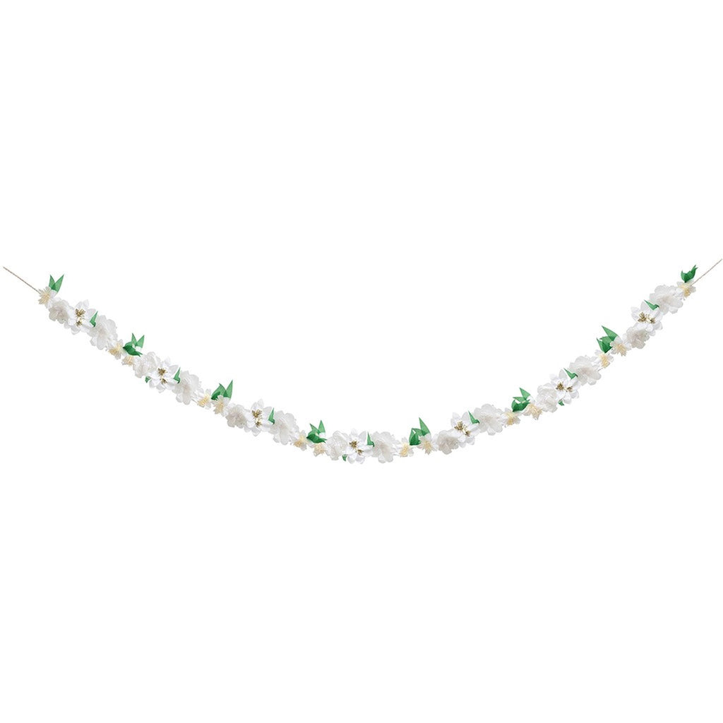 White Flower Garland