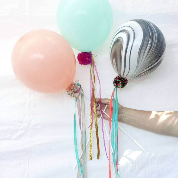 Balloon Wand with Ribbons & Balloon