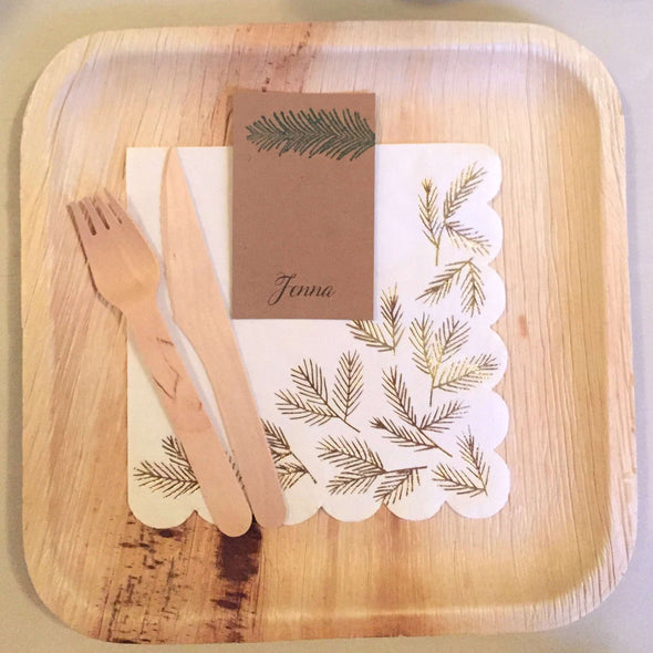 Compostable Palm Leaf Plates - 8""