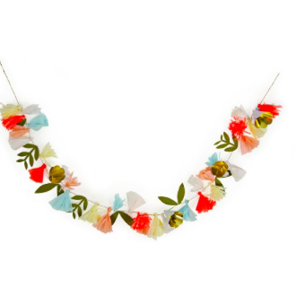 Crepe Paper Flower Garland Make Merry Party Shop