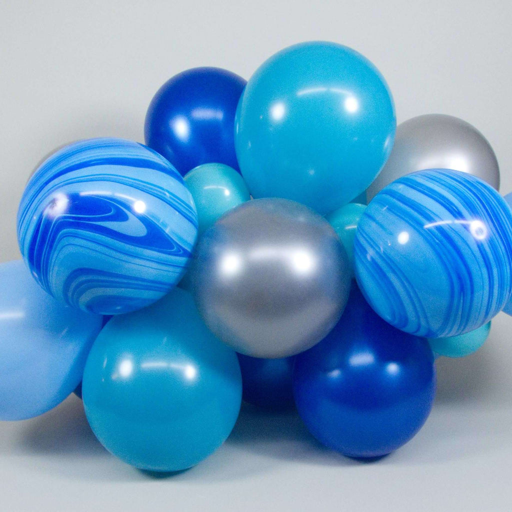 DIY Balloon Form Kit - Blue & Silver - 4ft