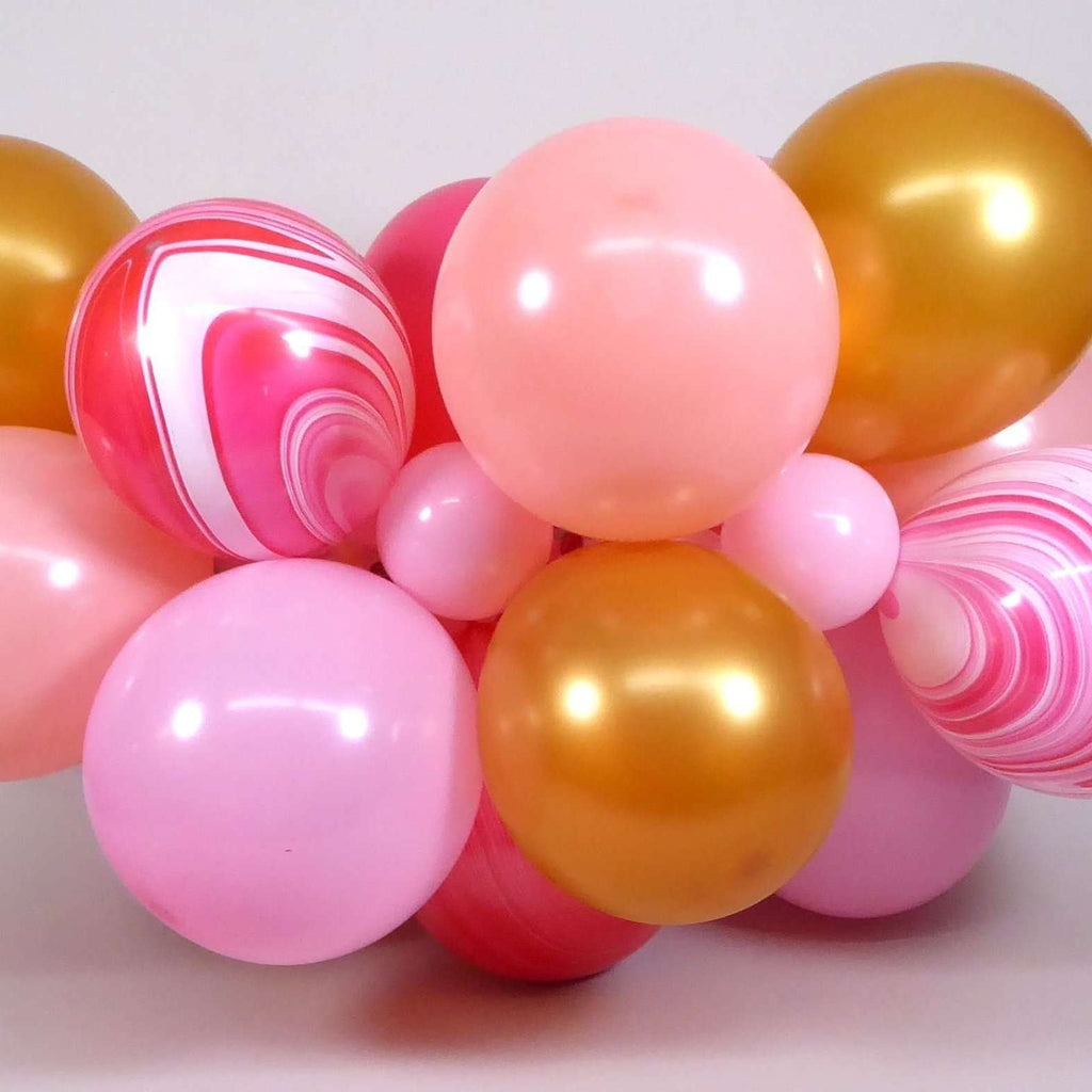 DIY Balloon Form Kit - Pink & Gold - 4ft