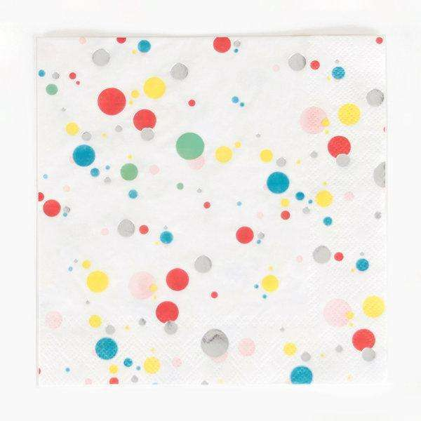 Multicoloured Bubbles Large Napkins