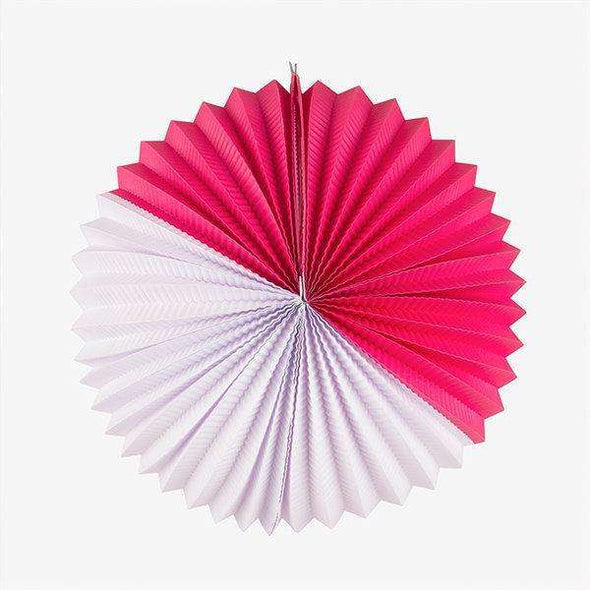 Paper Lantern - Hot Pink and White