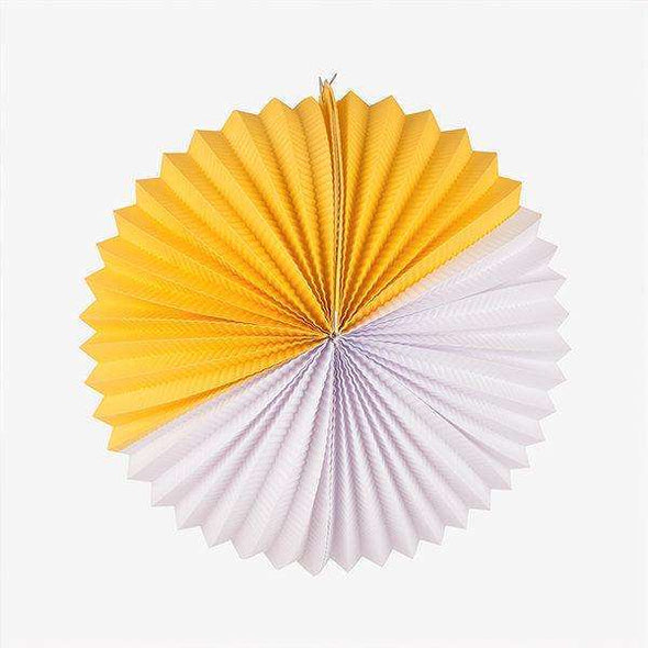 Paper Lantern - Yellow & White