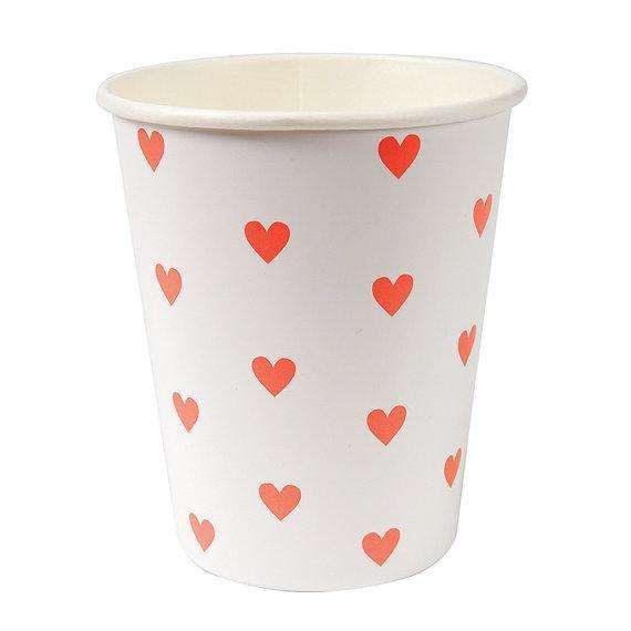 Pink Hearts Cups