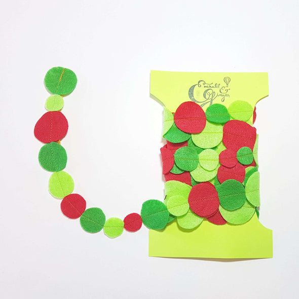Red & Green Felt Dot Garland
