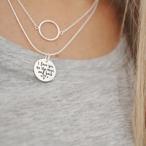I love you to the 🌙 and back necklace