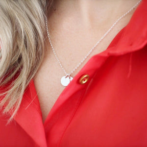 Tiny initial necklace - Savi Jewelry