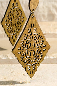 Tiva Filigree Earrings (Cappuccino)