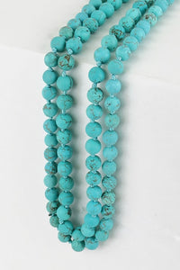 Turquoise Natural Stone Beaded Necklace