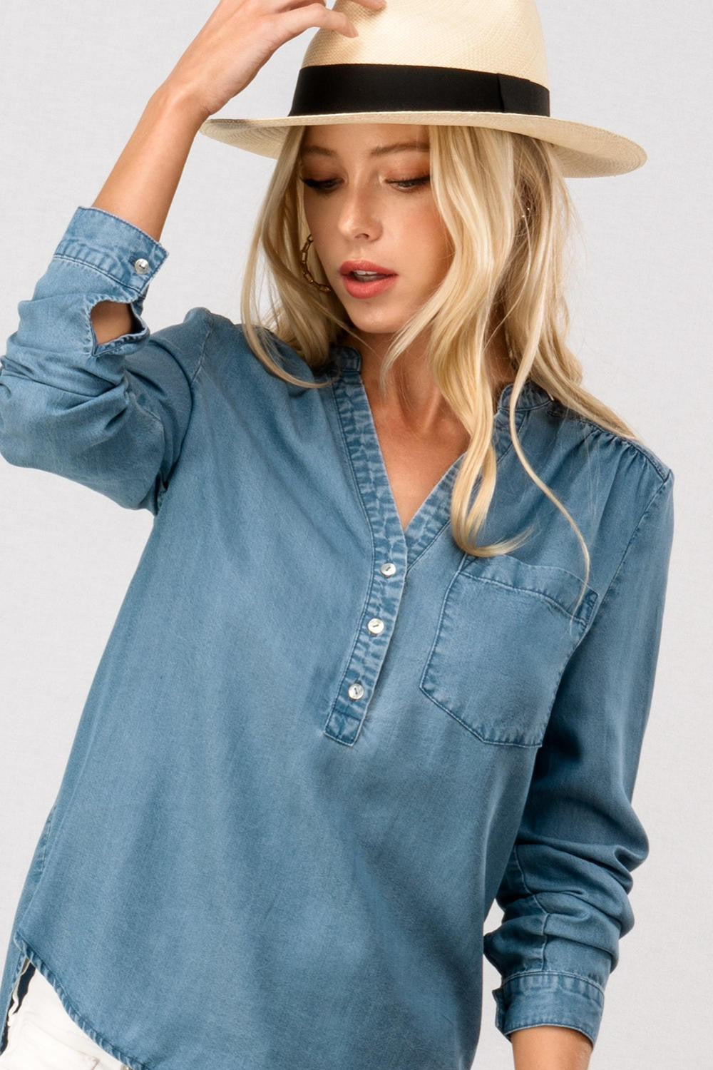 SALE! Basic Chambray Top
